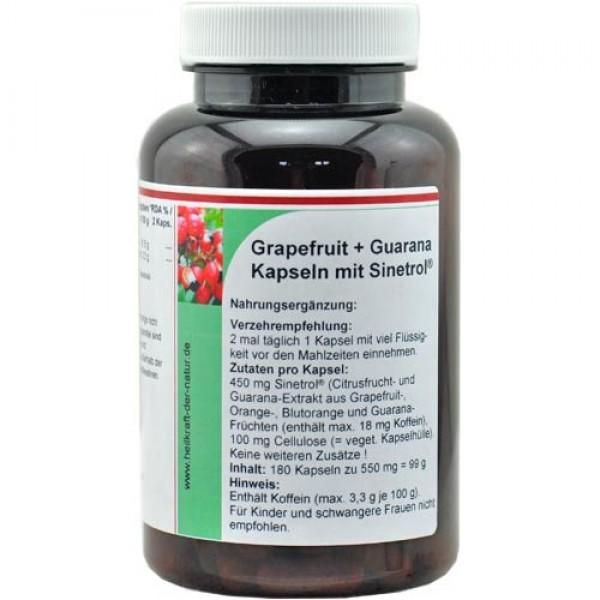 Sinetrol®-2 Grapefruit + Guarana Fat-Burner Kapseln, 90 oder 180 vegane Kapseln