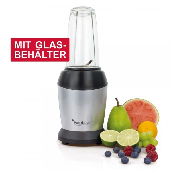 Foodmatic, Personal Mixer / Blender mit Glasbehälter