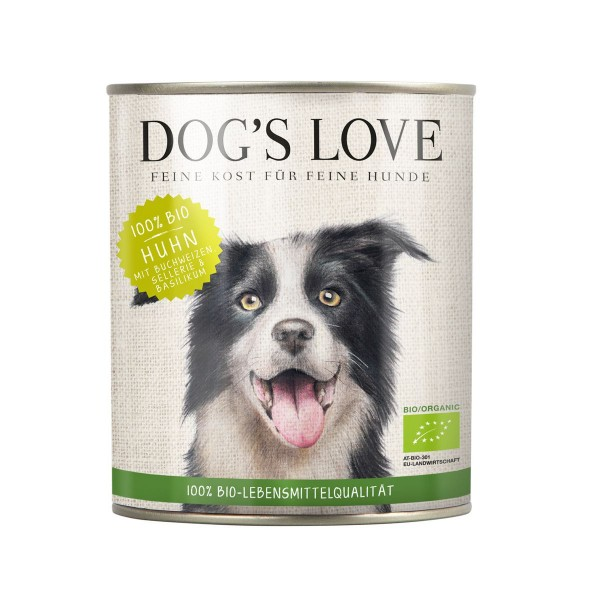 Dogs Love Bio Huhn mit Buchweizen, Sellerie & Basilikum