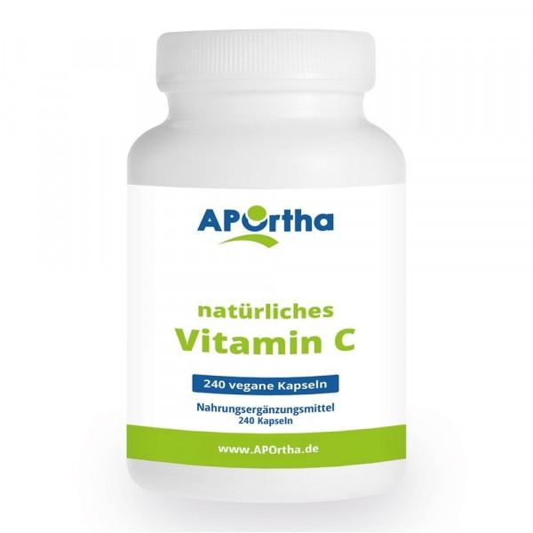 Natürliches Vitamin C aus Acerola-Extrakt und Hagebutten-Extrakt - 240 vegane Kapseln