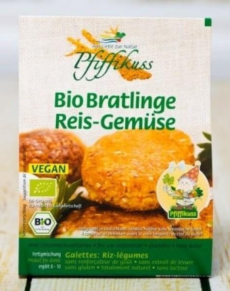 Reis-Gemüse Bratlinge, Bio, vegan, Pfiffikus