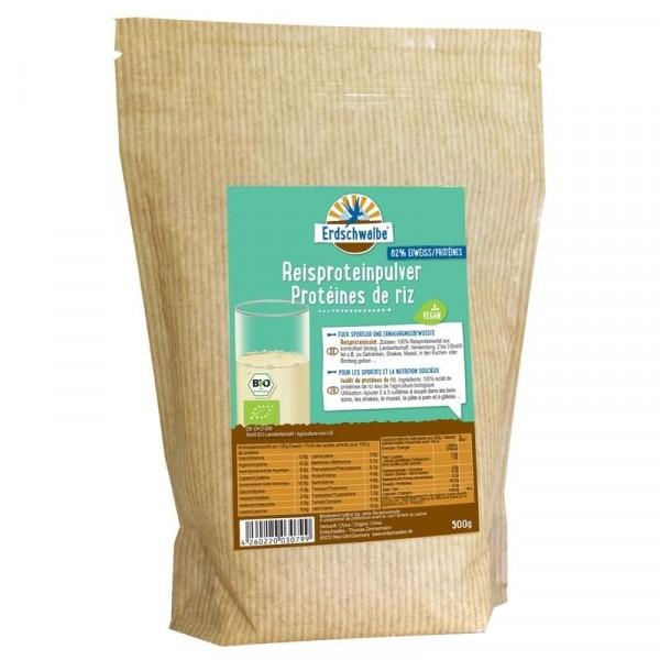 Reisproteinpulver, Bio, Rohkostqualität, vegan, 82% Protein