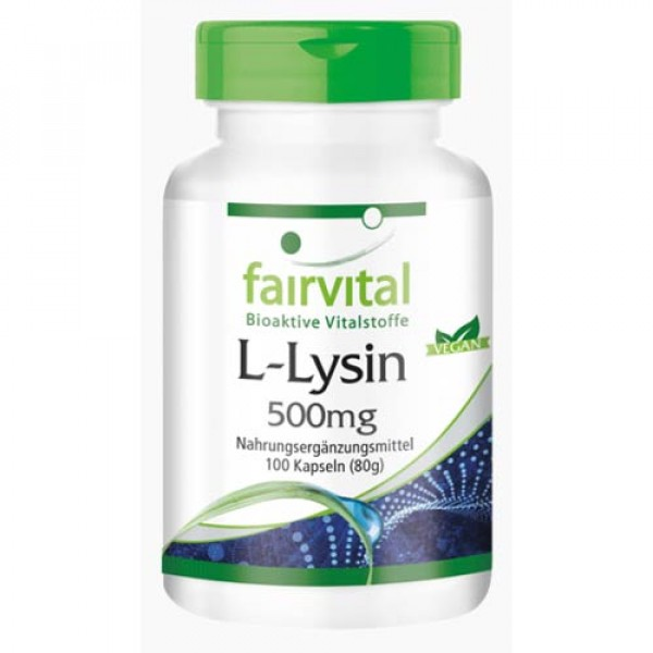 L-Lysin 500mg, 100 vegane Kapseln