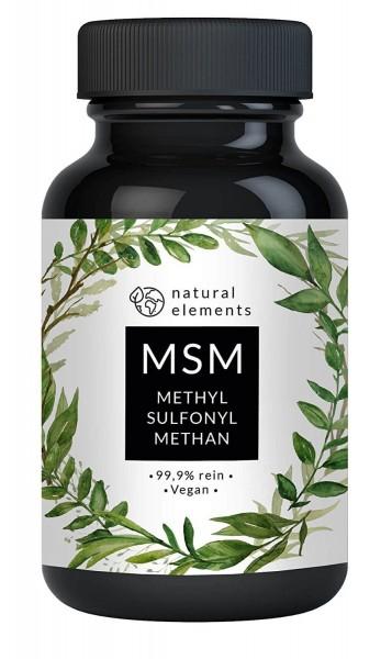 MSM Kapseln (Organischer Schwefel) 99,9% rein, 700mg, 365 vegane Kapseln