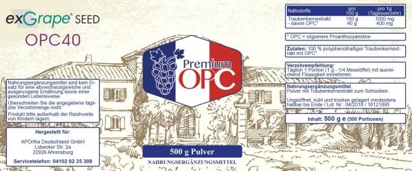 Premium OPC Pulver ohne Zusätze, 500g veganes Pulver