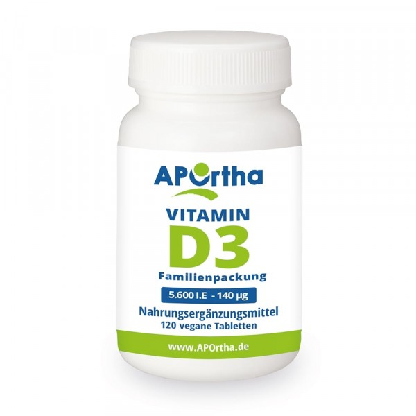 Vitamin D3 5.600 IE, vegan und natürlich, 120 vegane Tabletten B-Ware