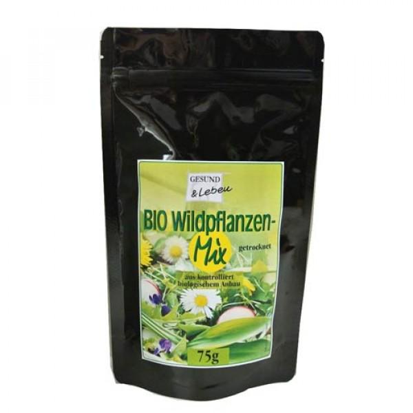 Bio Wildpflanzen Mix, getrocknet, Wildkräuter in Rohkostqualität, 75g